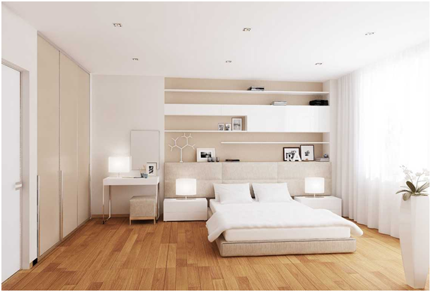 kamar dengan warna soft